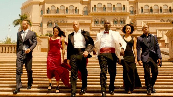 The cast of FURIOUS 7 strutting their stuff