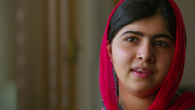 Malala in HE NAMED ME MALALA