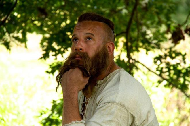 Thoughtful hipster Vin Diesel with hair in THE LAST WITCH HUNTER