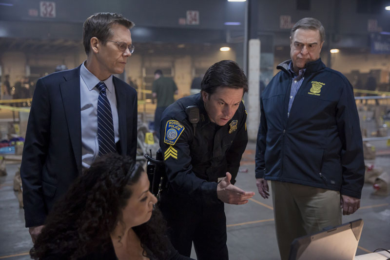 Kevin Bacon, Mark Walhberg, and John Goodman in PATRIOTS DAY