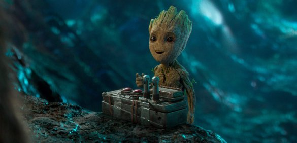 Baby Groot about to adorably destroy the world in GUARDIANS OF THE GALAXY VOL. 2.