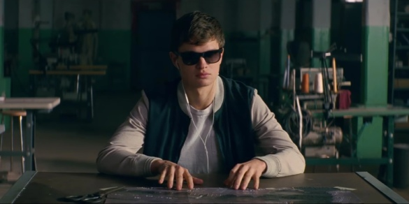 Ansel Elgort doing his best Ray Charles impression in BABY DRIVER.