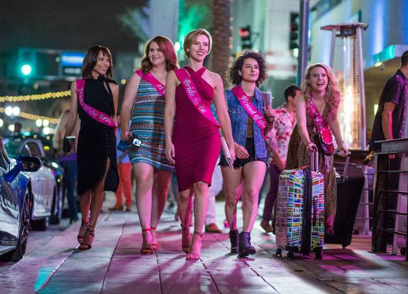 Zoe Kravitz, Jillian Bell, Scarlett Johansson, Ilana Glazer, and Kate McKinnon in ROUGH NIGHT.