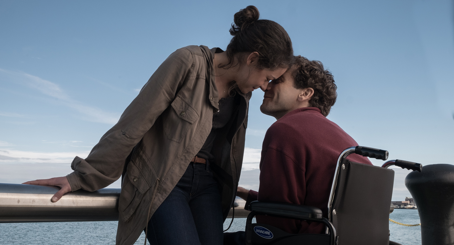 Tatiana Maslany and Jake Gyllenhaal making a cute couple in STRONGER.