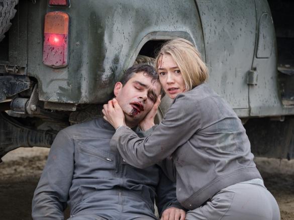 Oksana Akinshina and Pyotr Fyodorov in the film Sputnik