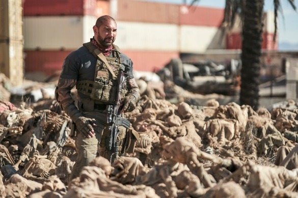Dave Bautista in Zack Snyder's zombie heist film ARMY OF THE DEAD
