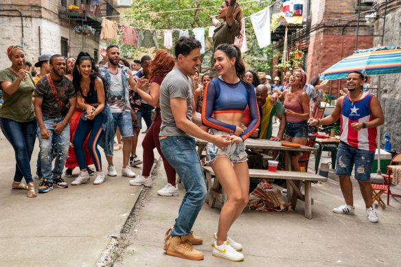 Anthony Ramos and Melissa Barrera in film In the Heights