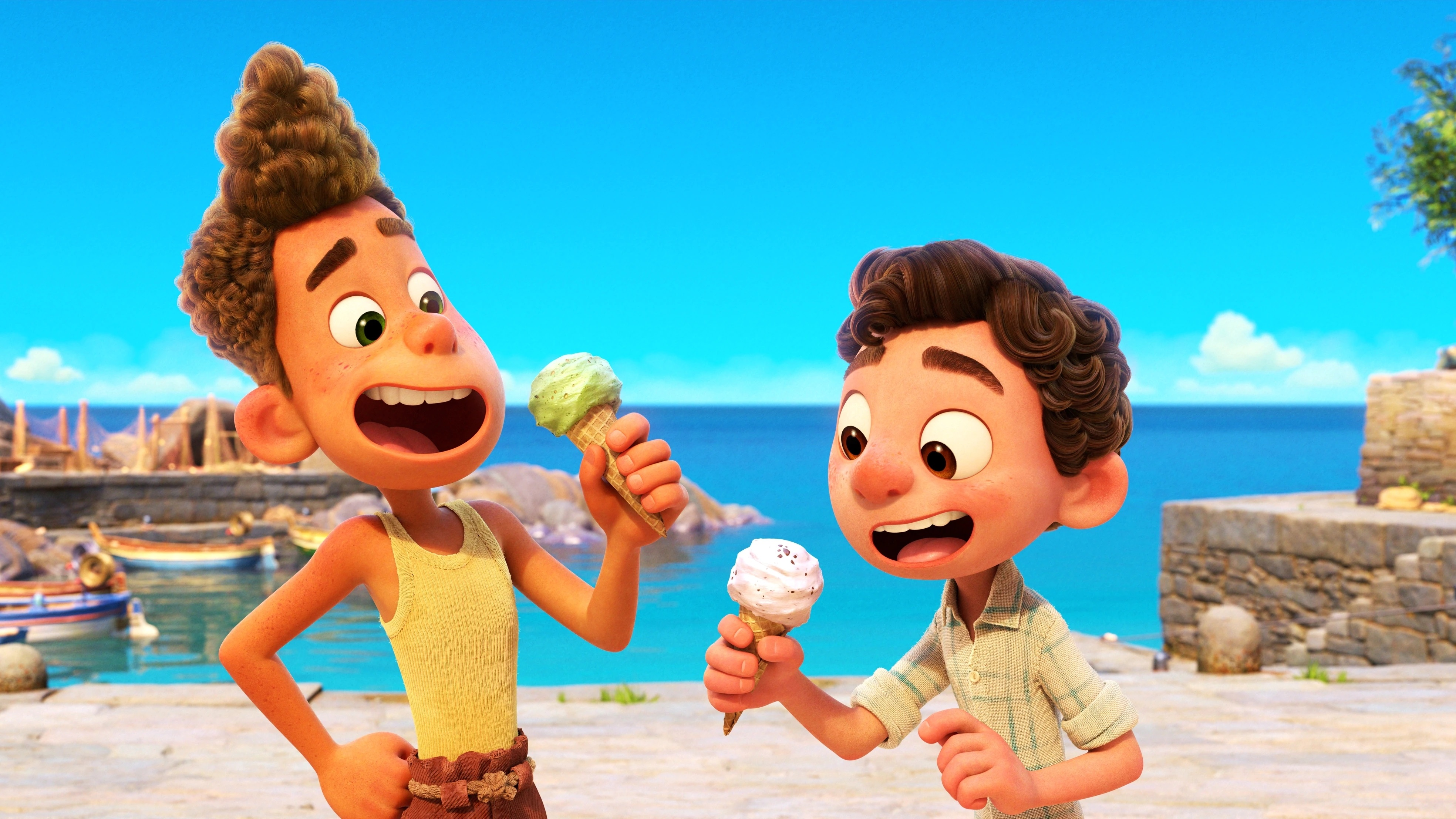 Disney Pixar's LUCA, an animated film about two boy sea monsters